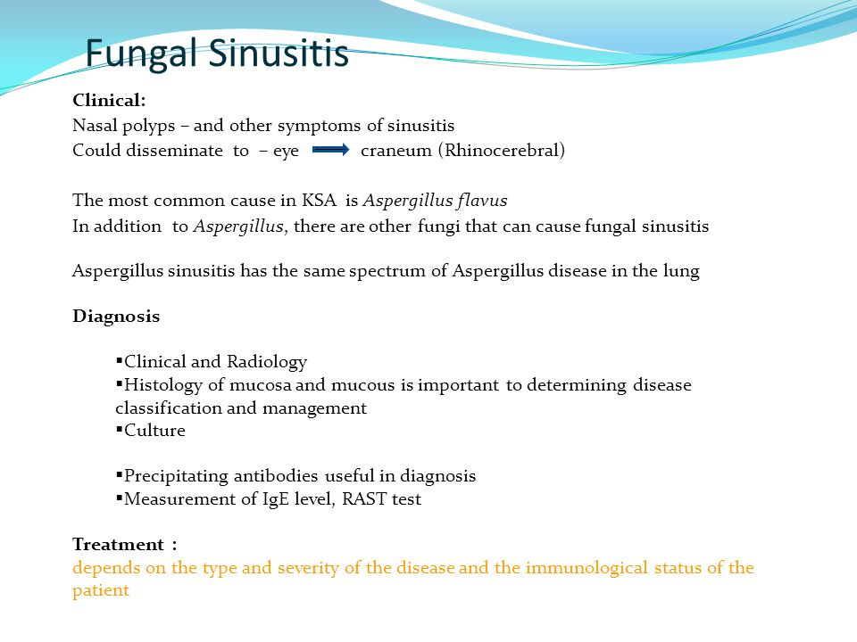 Fungal Sinusitis Clinical: