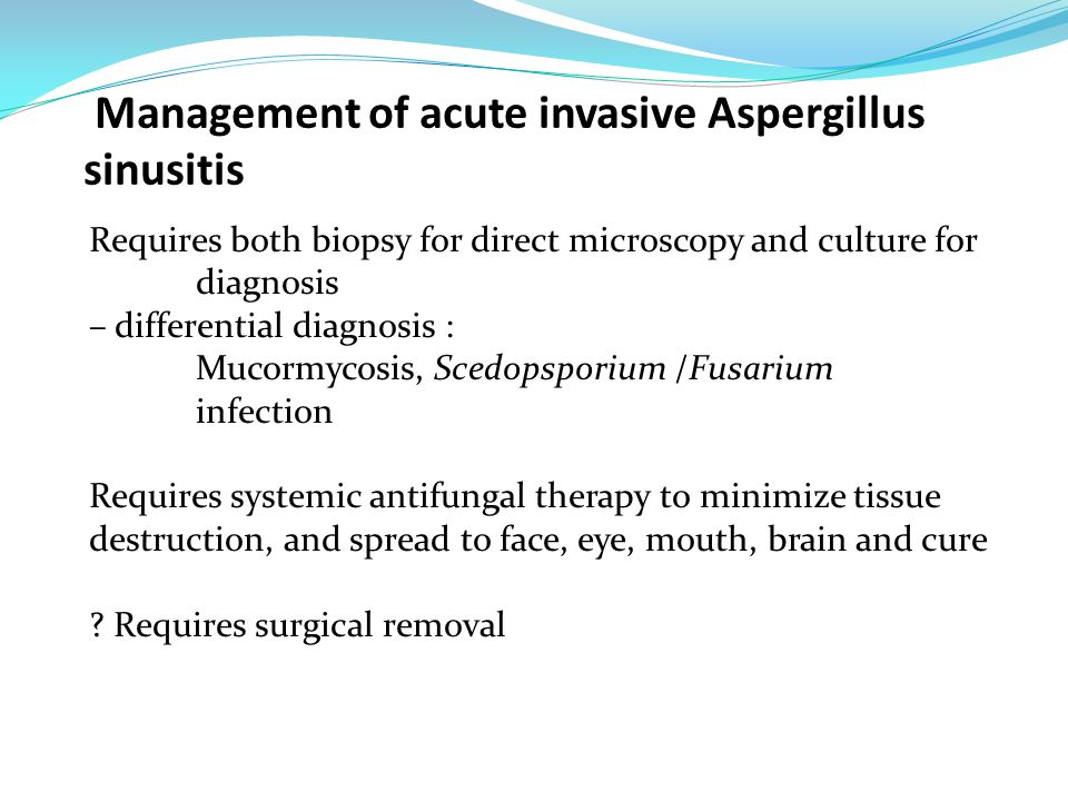 Management of acute invasive Aspergillus sinusitis