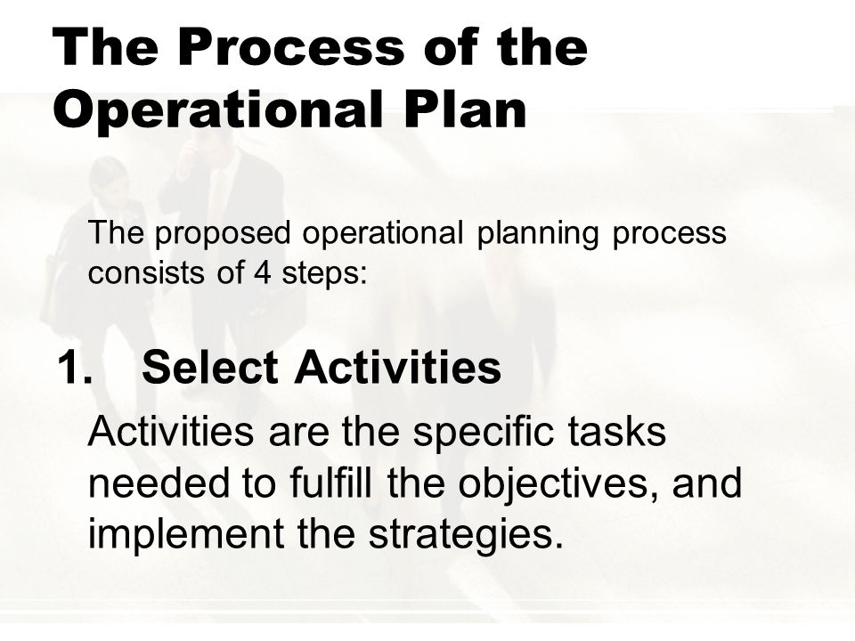 implement operational plan