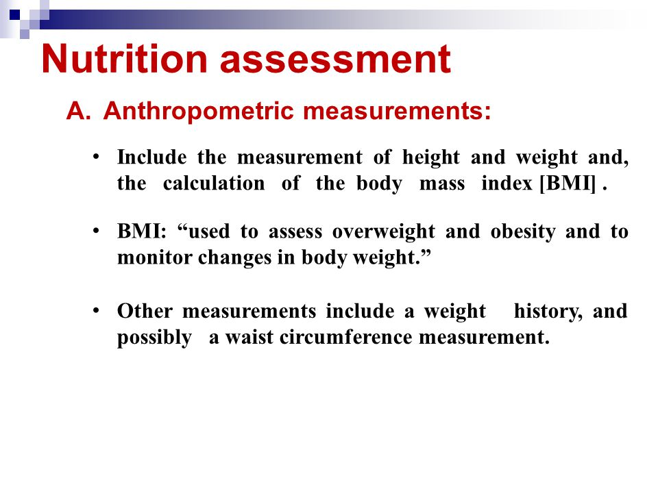 Nutritional Assessment - ppt download
