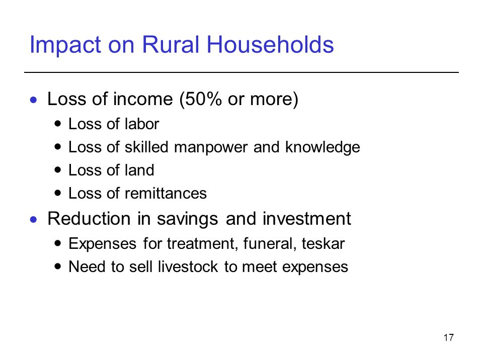 Impact on Rural Households