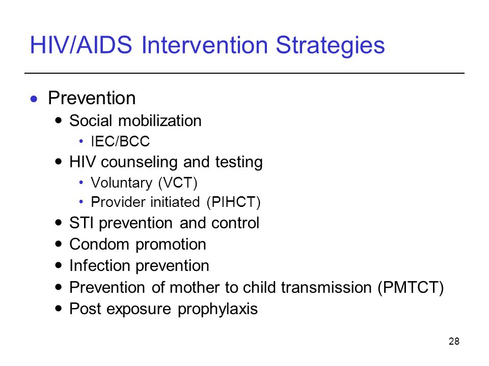 HIV/AIDS Intervention Strategies