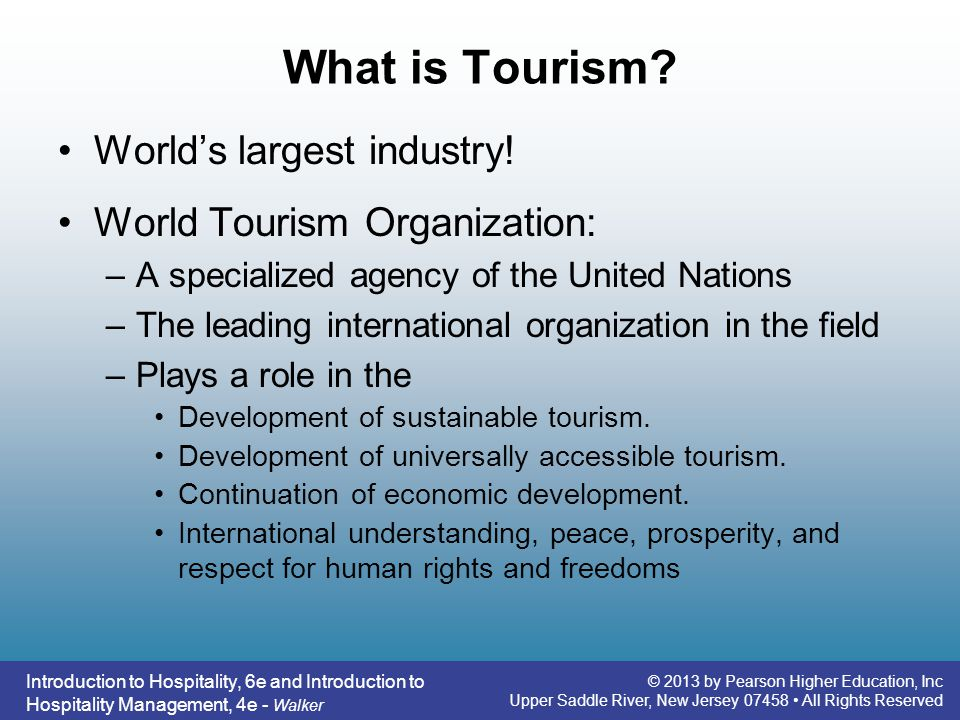 the development of tourism and hospitality industry The tourism and hospitality industry is an umbrella covering a sea of fun and engaging careers, from being a food and beverage manager on a high-end cruise line to orchestrating a top sound music festival in an industry that is constantly growing and evolving to new trends, why not jump on board.