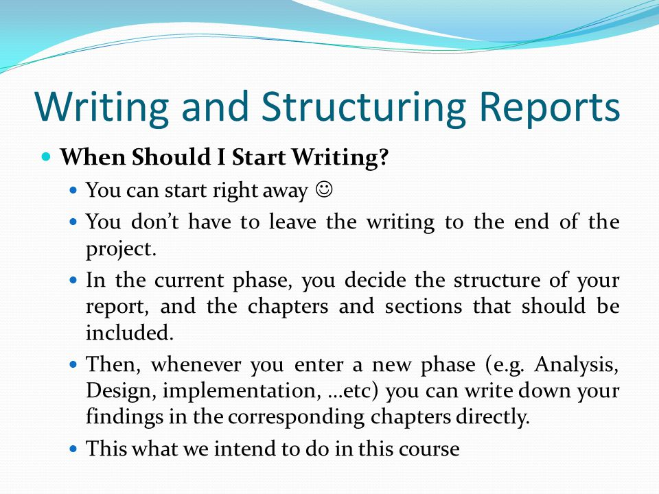 Lecture 3 Writing The Project Documentation Part I Ppt Video