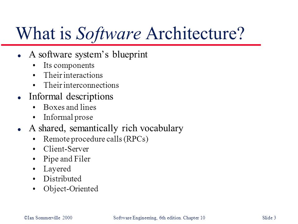 Architectural Design Establishing The Overall Structure Of A Software System Objectives To Introduce Architectural Design And To Discuss Its Importance Ppt Video Online Download