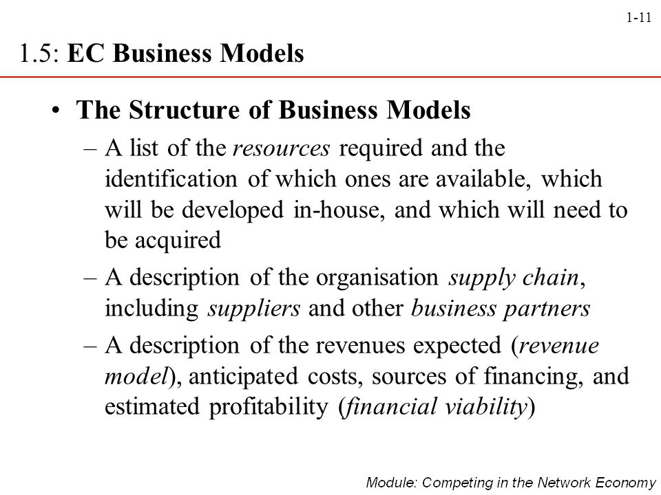 The Structure of Business Models