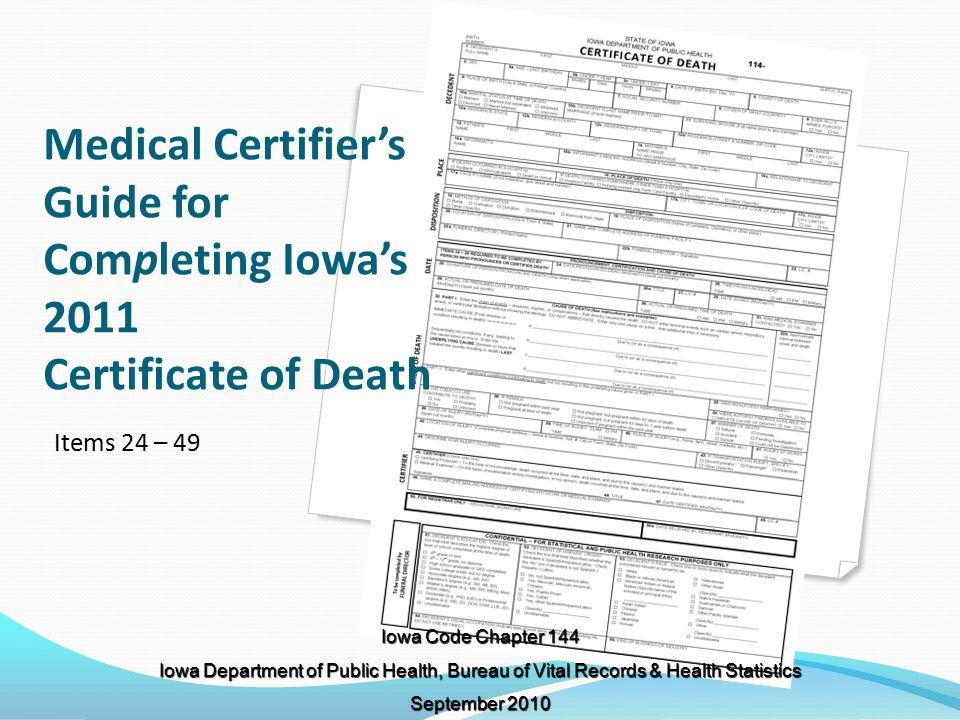 medical certifier s guide for completing iowa s certificate of death rh slideplayer com Medical Examiner Salary Clip Art Medical Examiner