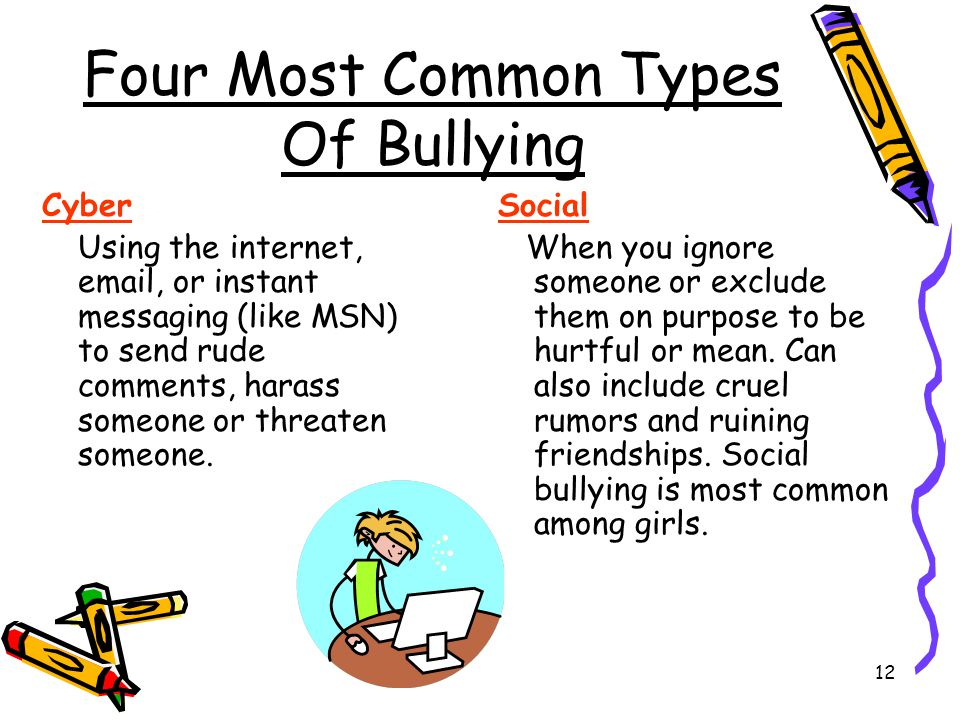 Four Most Common Types Of Bullying