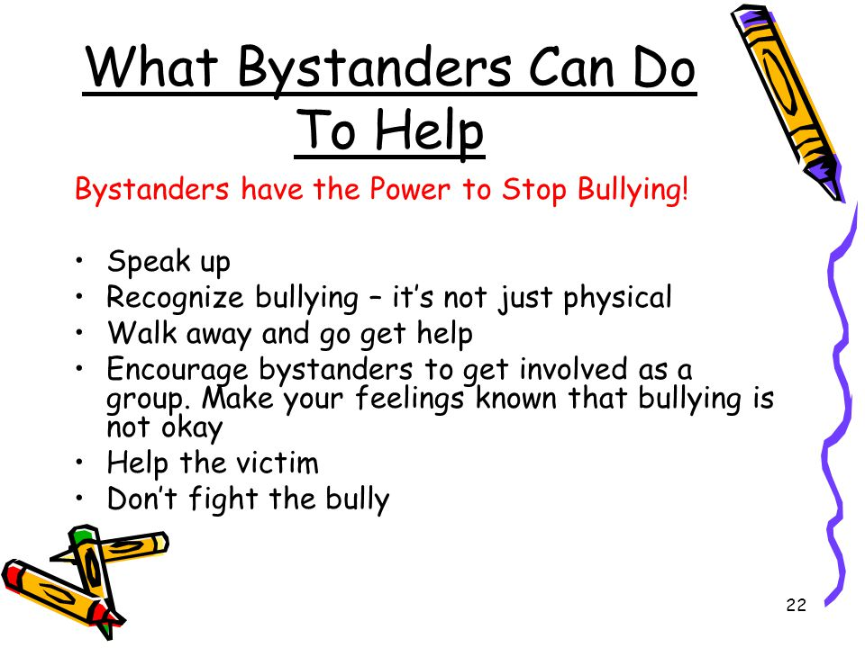 What Bystanders Can Do To Help