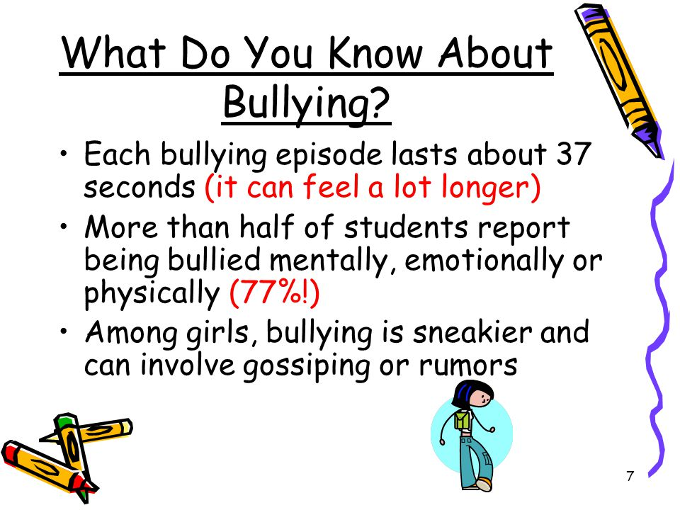 What Do You Know About Bullying