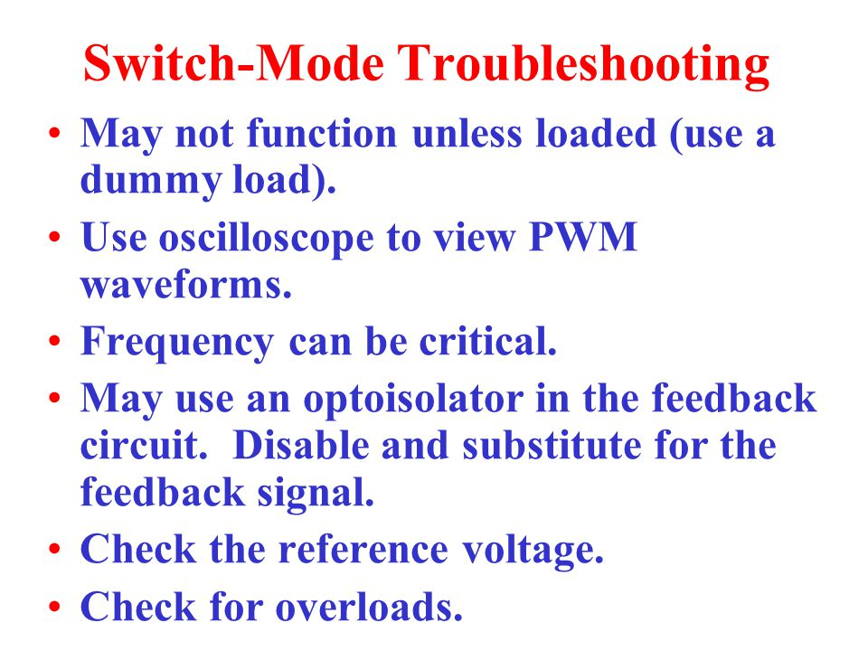 Switch-Mode Troubleshooting