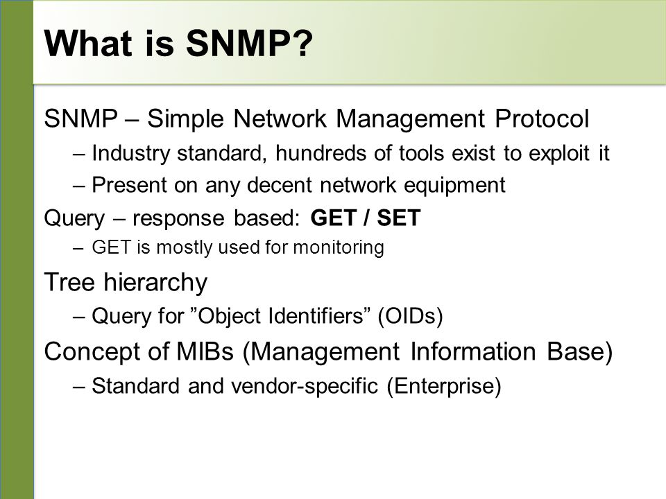 10/26/10 Network Management & Monitoring Introduction to