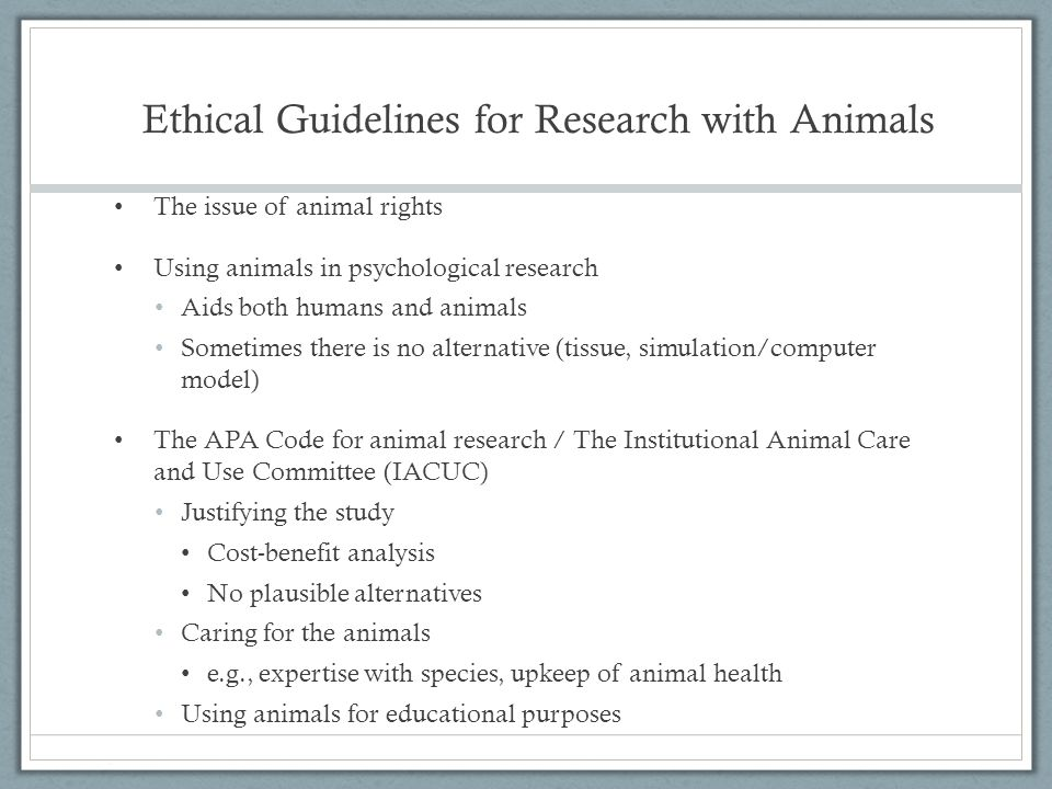 apa ethical standards for psychology experiments