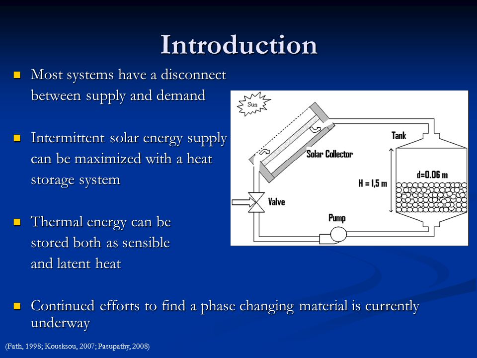 Phase Changing Material in Solar Thermal Energy Storage - ppt video