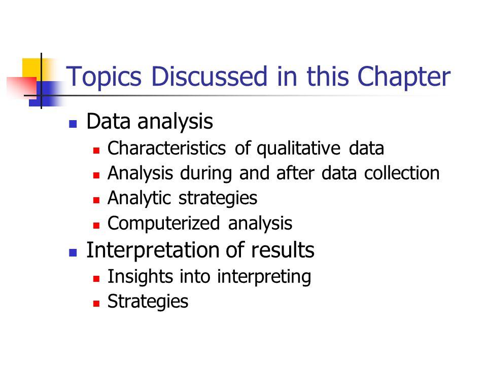 qualitative research  data analysis and interpretation