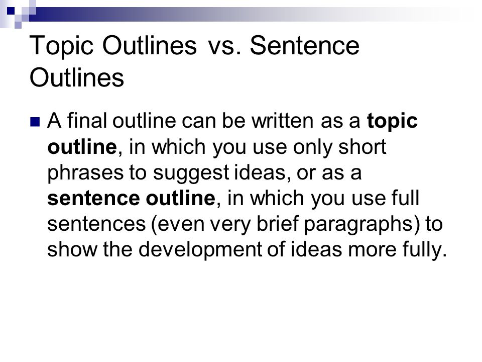 a full sentence outline is an alphanumeric outline that uses