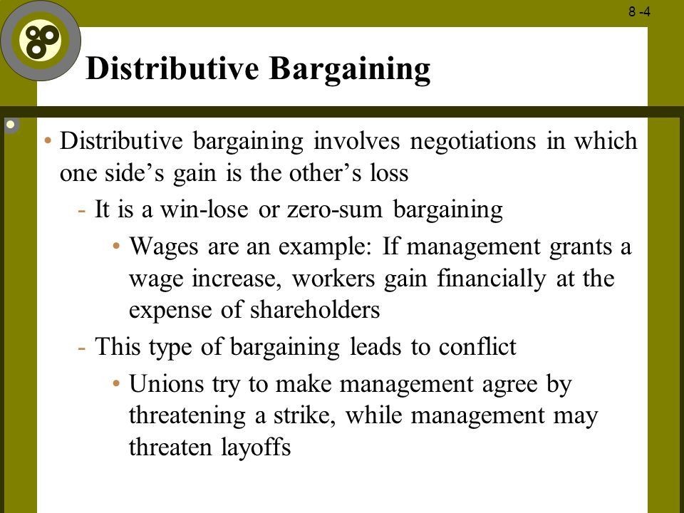 distributive bargaining examples