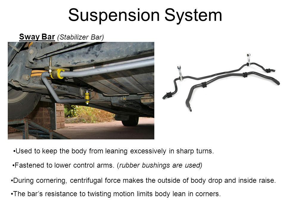 Suspension System Sway Bar (Stabilizer Bar)