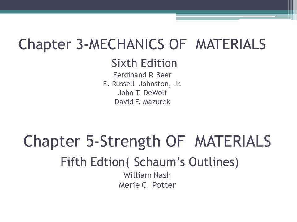 Materials beer pdf johnston strength of