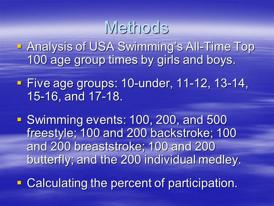 Long-Term Training in Swimming - ppt video online download