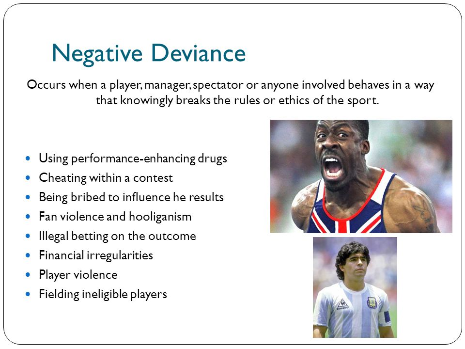positive and negative deviance examples