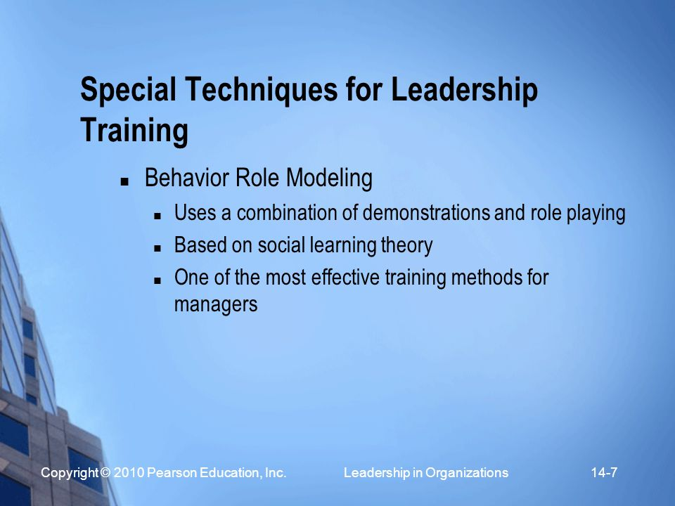 Special Techniques for Leadership Training