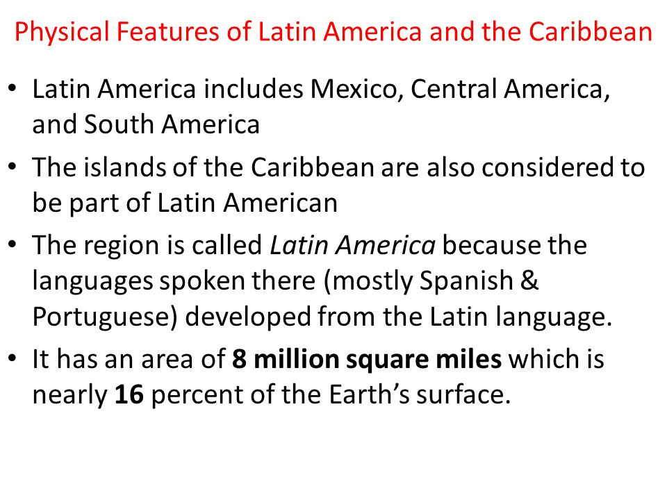 Latin America Physical Geography. - ppt download