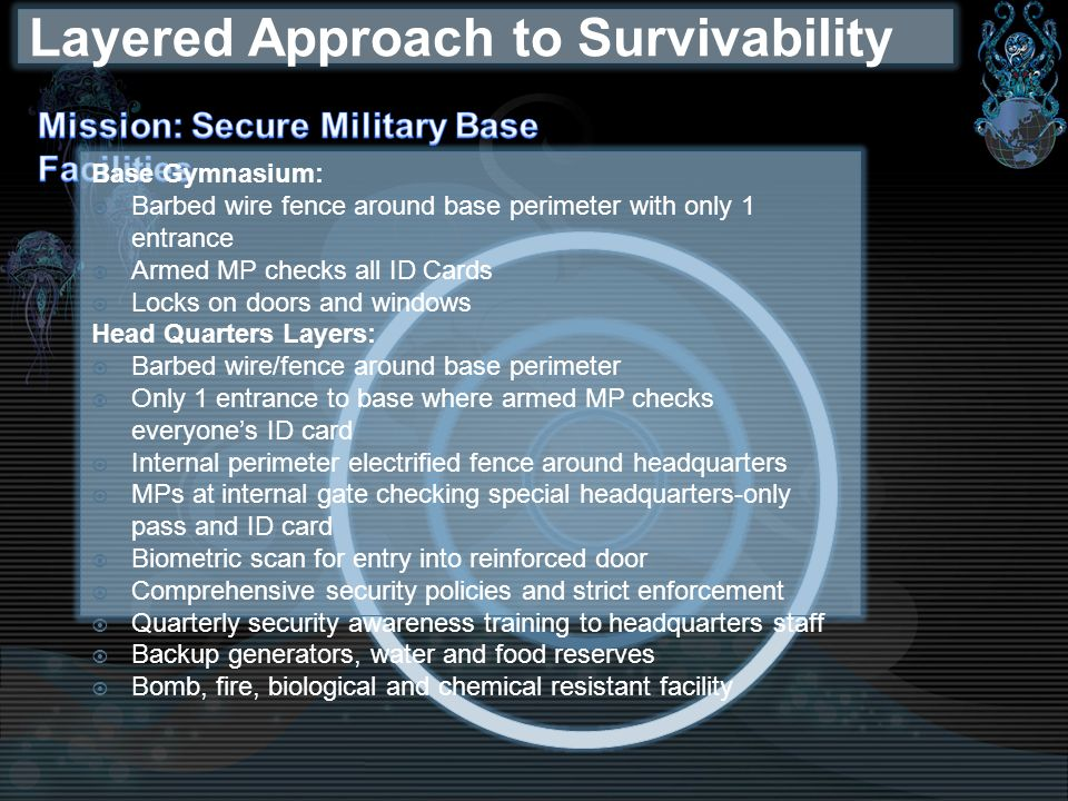 Layered Approach to Survivability