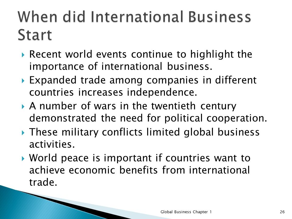 the importance of international business and Important ways in which technology is facilitating international business are as follows: technology is beneficial to international business it may be stated that lowering of trade barriers has made globalization of markets and production a theoretical possibility, technology has made it a practical reality.
