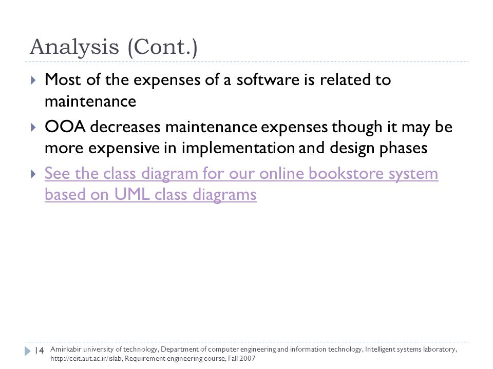 Requirement engineering for an online bookstore system ppt video 14 analysis cont ccuart Images