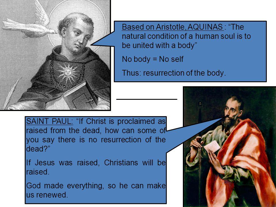 Natural Bodies Aquinas