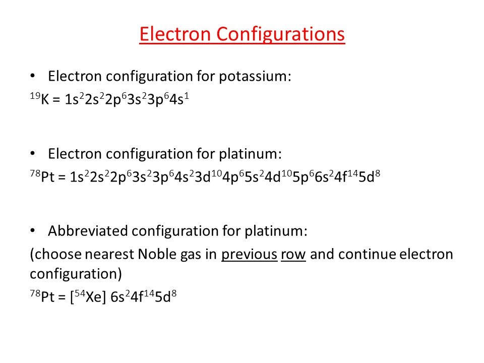 Quantum theory structure of the periodic table ppt video online 3 electron configurations urtaz Image collections
