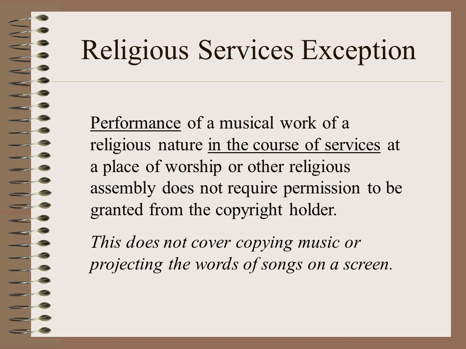 Religious Services Exception
