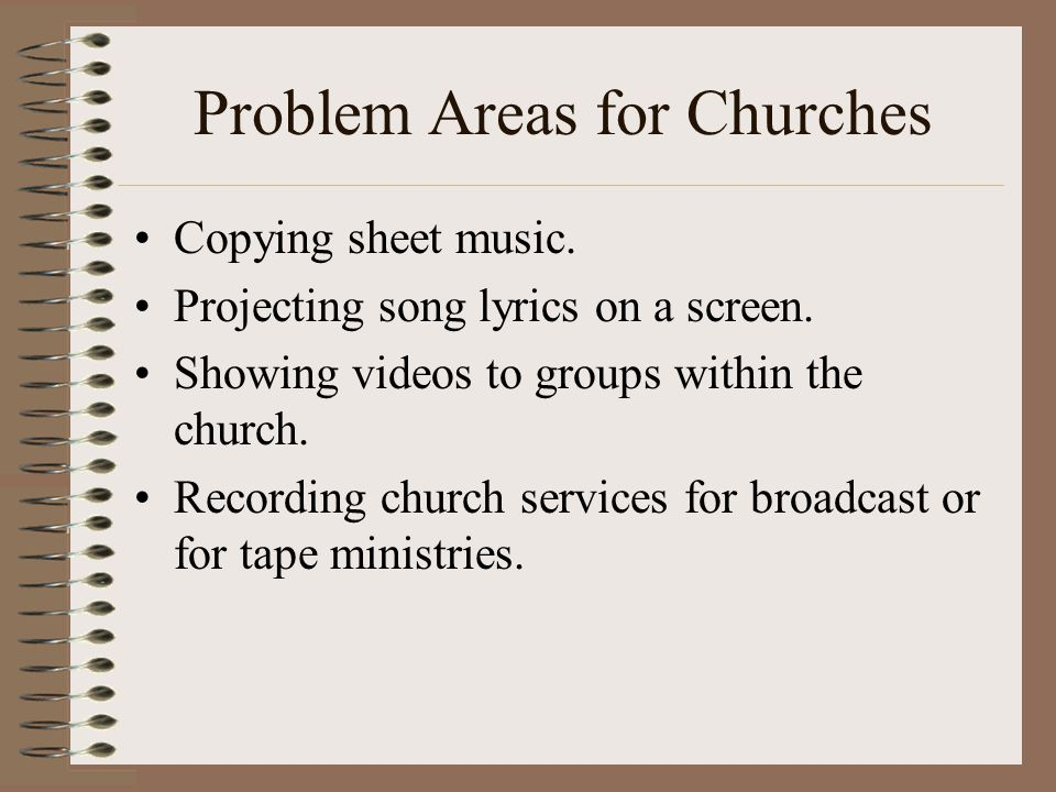 Problem Areas for Churches