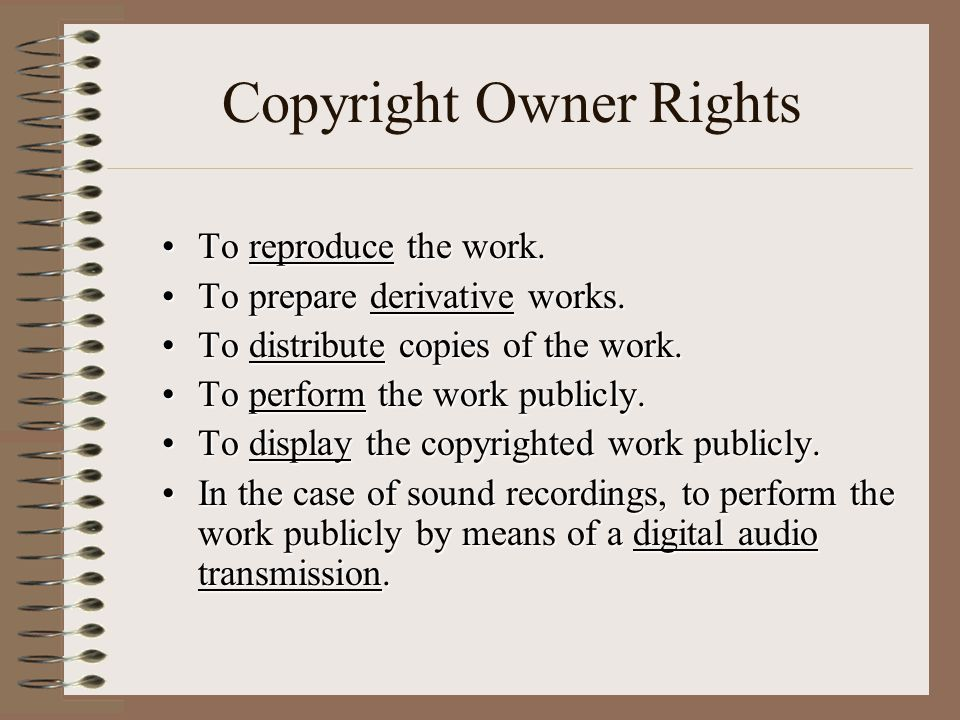 Copyright Owner Rights