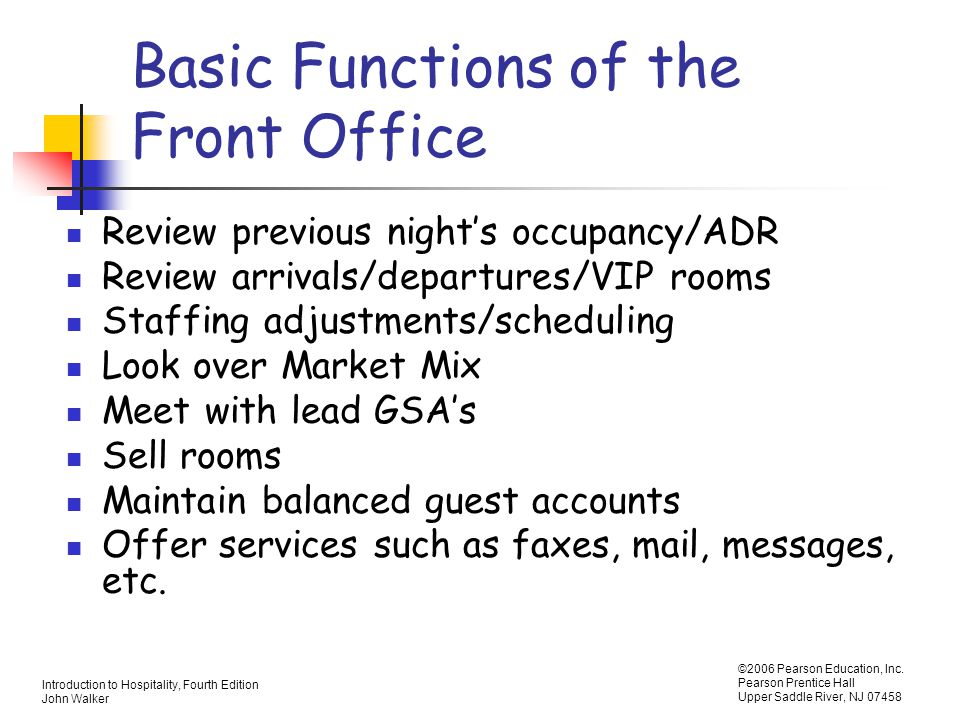 Chapter 5 Rooms Division Operations - ppt video online download
