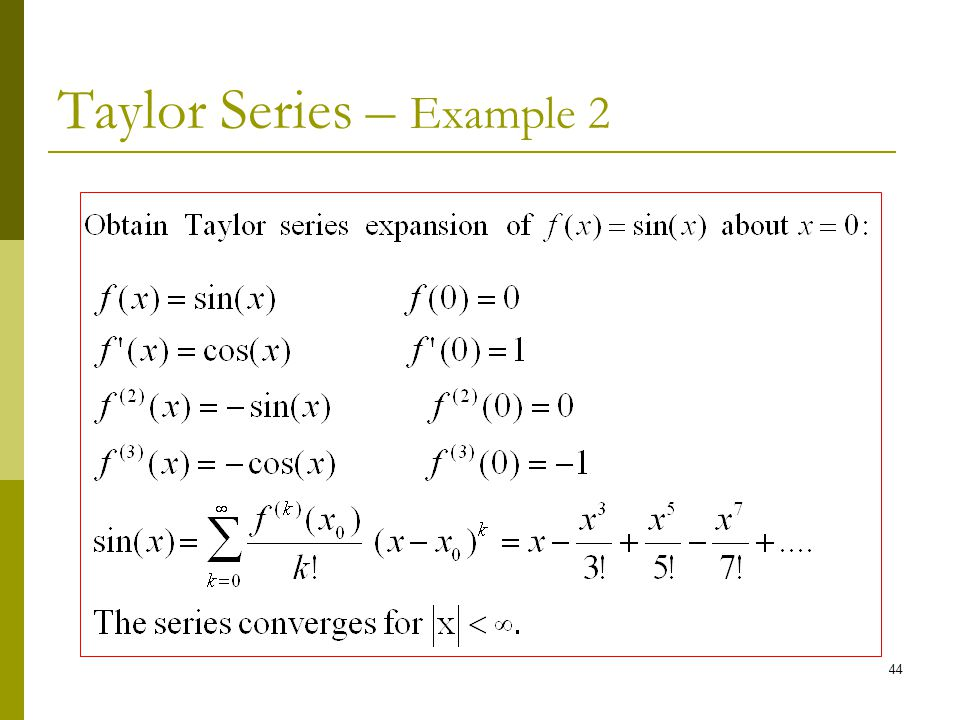 Taylor Series – Example 2