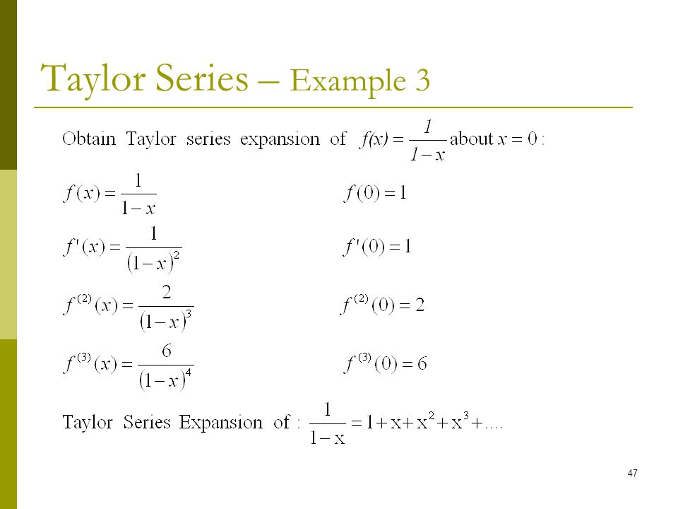 Taylor Series – Example 3