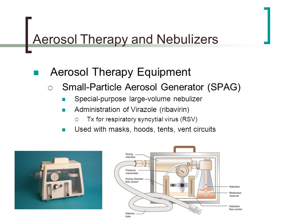 Aerosol Therapy And Nebulizers Ppt Video Online Download