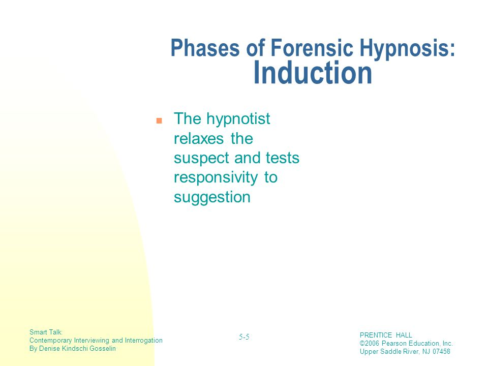 Forensic Hypnosis And Cognitive Interviewing Ppt Video Online Download