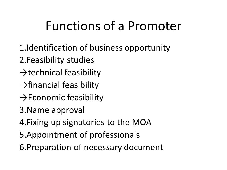 Functions of a Promoter