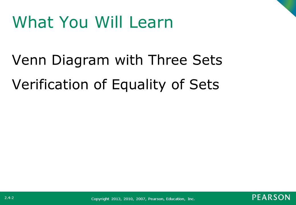What You Will Learn Venn Diagram With Three Sets Ppt Download