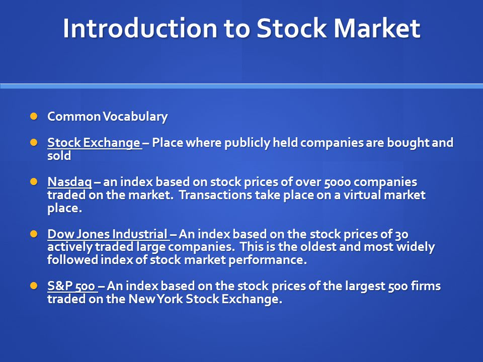 Stock Market Game Current Events Ppt Download