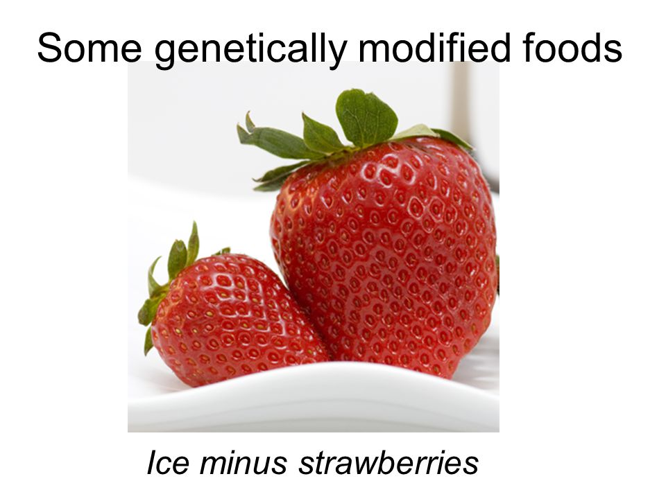 Some genetically modified foods