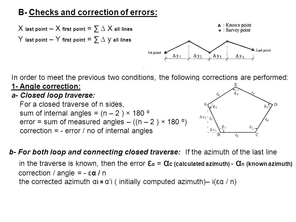 CHAPTER 4 Coordinate Geometry and Traverse Surveying - ppt