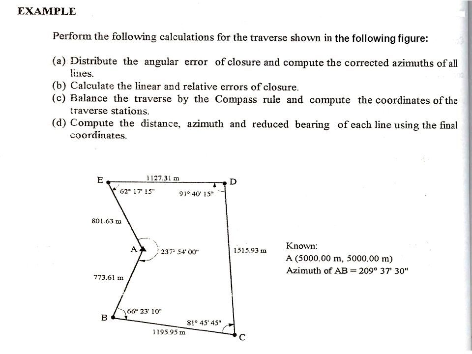 CHAPTER 4 Coordinate Geometry and Traverse Surveying - ppt video