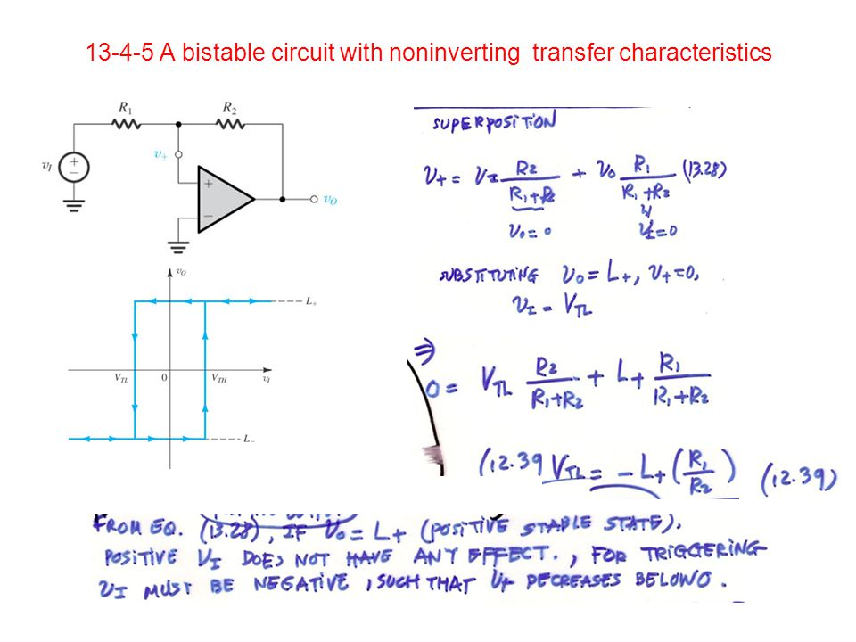 A bistable circuit with noninverting transfer characteristics