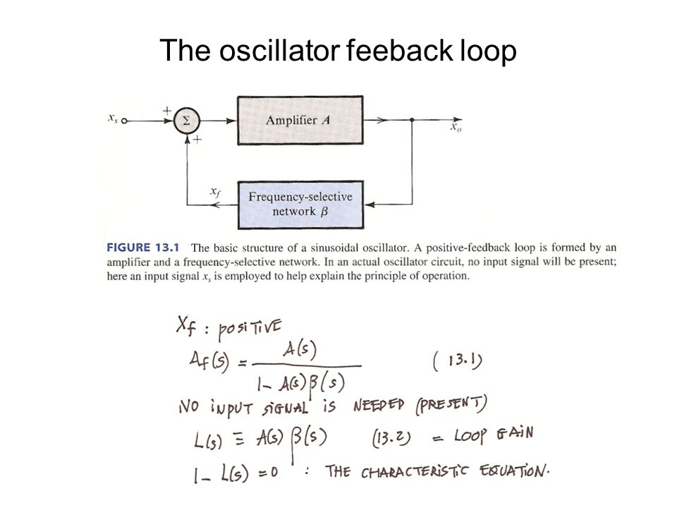 The oscillator feeback loop