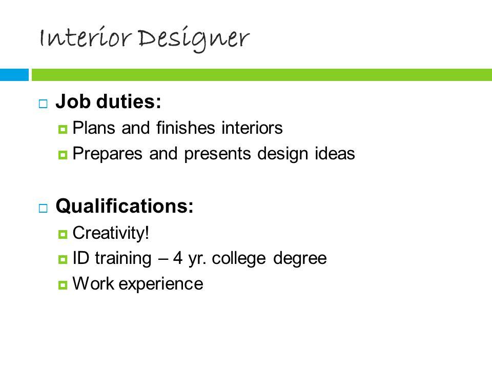 8 Interior Designer ...