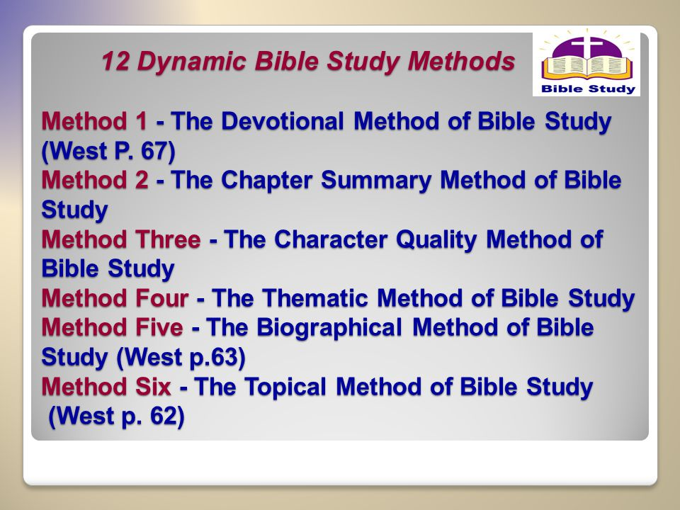 Bible Study Methods and Applications | Christian Bible Studies